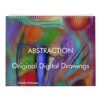 Digital teckningkalender för ABSTRAKTIONER Kalender