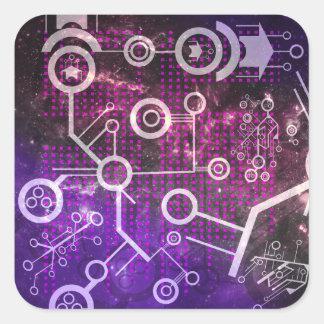 Digital universum fyrkantigt klistermärke