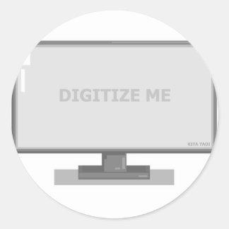 digitalisera mig runt klistermärke