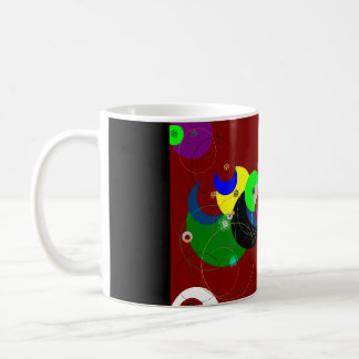 digitalt cirklar kaffemugg