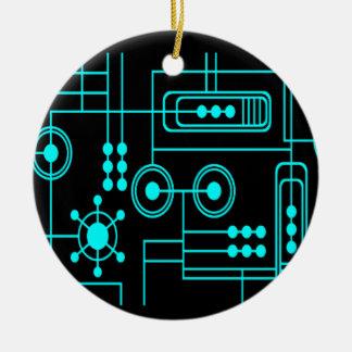 Digitalt mönster Nº1 för TRANSHUMANIST Julgransprydnad Keramik