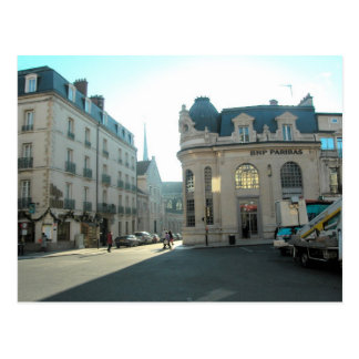 Dijon Burgundy, frankriket, den Dion staden centre Vykort