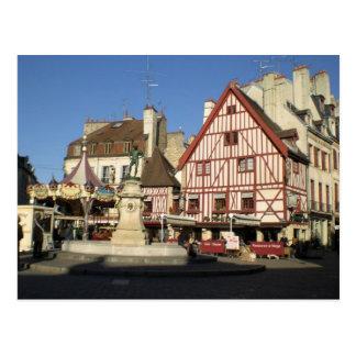 Dijon, Carouselle och kaffe Vykort