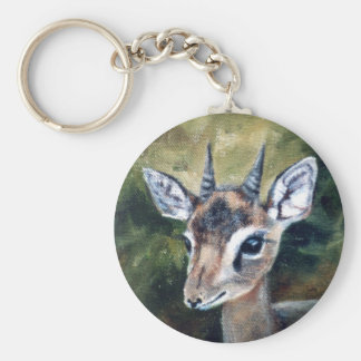 Dikdik dvärg- antilop Keychain Rund Nyckelring