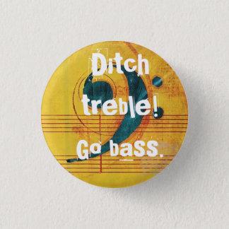 Diketreble! Går bass.en Mini Knapp Rund 3.2 Cm