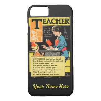 """Dikt för lärare """"för progressiv Era"""" för vintage"""