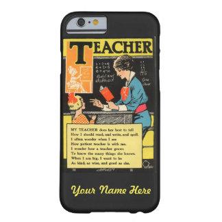 """Dikt för lärare """"för progressiv Era"""" för vintage Barely There iPhone 6 Skal"""