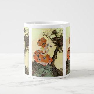 Dikt för rim för barnkammare för vintagemorgås jumbo mugg