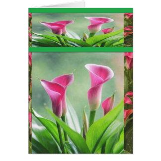 DIL trädgårds- Hogaya: BlommaLÖV Hälsningskort