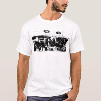 Diligens och hästar i svartvitt t-shirts