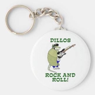 Dillos sten - och - rulle rund nyckelring