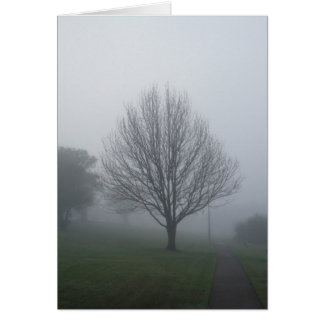 Dimma i parkerahälsningkortet hälsningskort