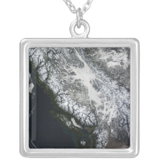 Dimma och insnöade British Columbia Silverpläterat Halsband
