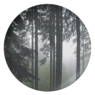Dimmig för Natur-lover'jord för skog II vildmark Tallrik