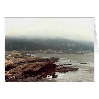 Dimmig Kalifornien kusten Hälsningskort