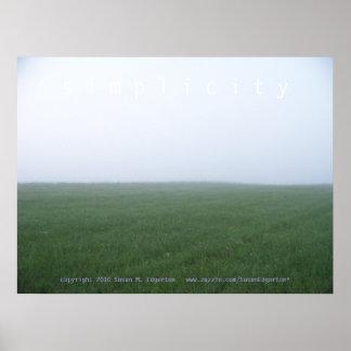 Dimmig morgon: Enkelhet Poster