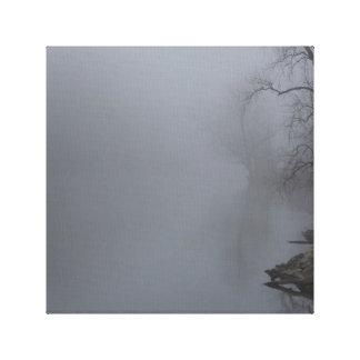 Dimmig morgon - grå färg canvastryck