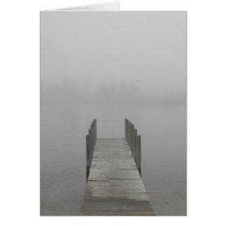 Dimmig morgon på skeppsdockan hälsningskort