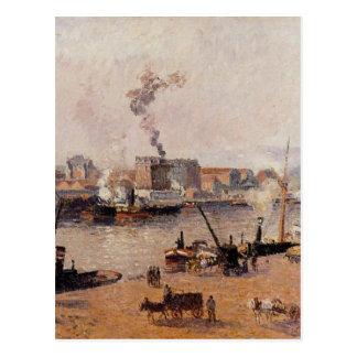 Dimmig morgon Rouen av Camille Pissarro Vykort