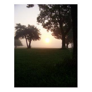 Dimmig morgon vykort