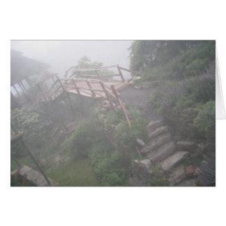 Dimmig väg hälsningskort