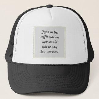 Din bekräftelse på hattar för en spegeldesign truckerkeps