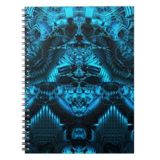 Din blåttFractalanteckningsbok Anteckningsbok