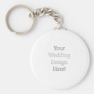 Din bröllopdesign rund nyckelring