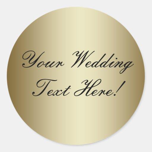 Din design här! Förseglar guld- bröllop för anpass Runda Klistermärken