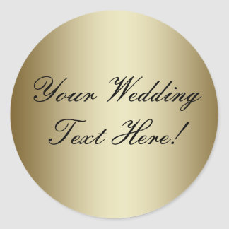 Din design här! Förseglar guld- bröllop för Runda Klistermärken