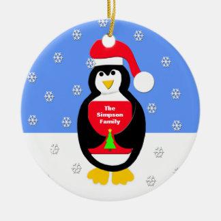 Din familjjulprydnad -- Pingvin Julgransprydnad Keramik