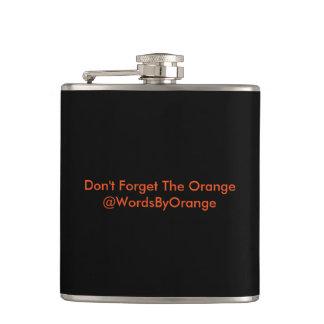 Din flaska vid orangen fickplunta