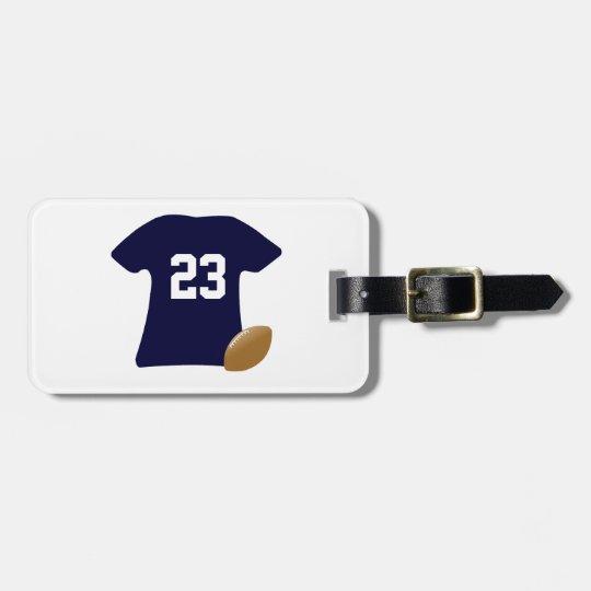 Din fotbollskjorta med boll bagagebricka