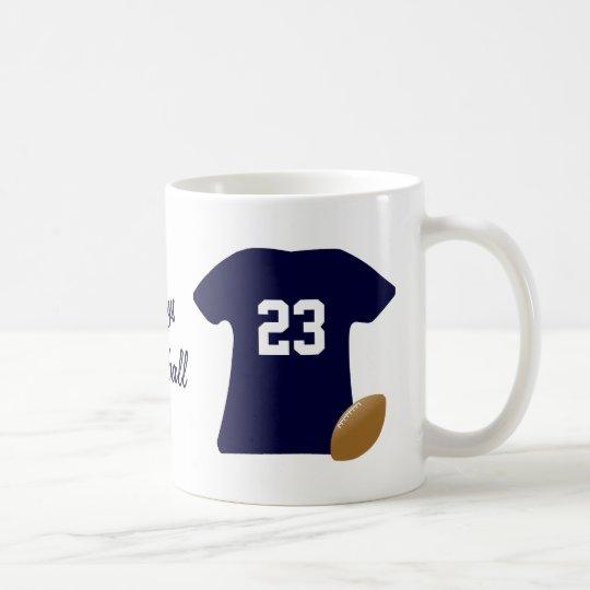 Din fotbollskjorta med boll kaffemugg