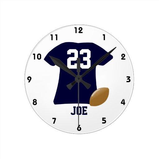 Din fotbollskjorta med boll medium rund klocka