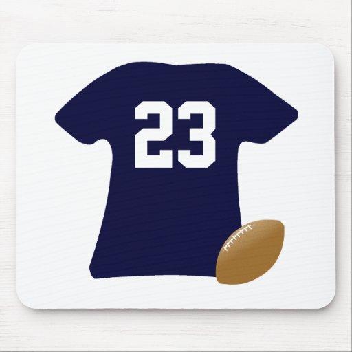 Din fotbollskjorta med boll musmatta