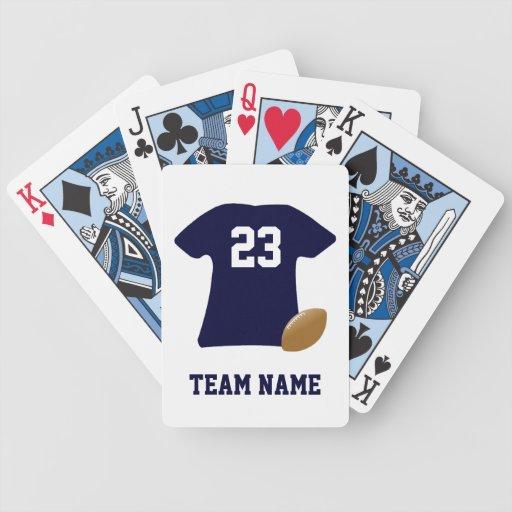 Din fotbollskjorta med boll som leker kort spel kort