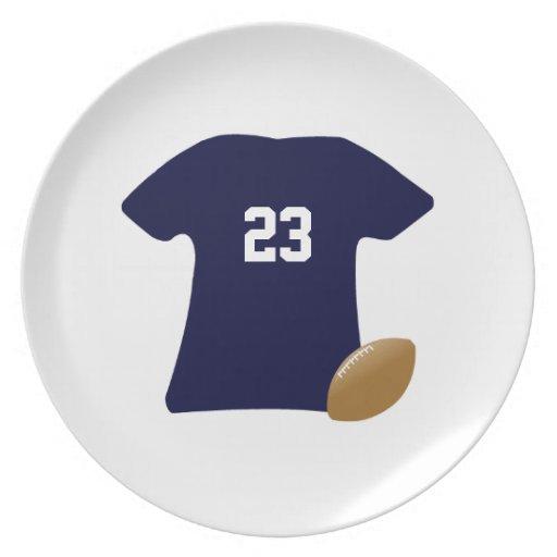 Din fotbollskjorta med boll v2 dinner plates