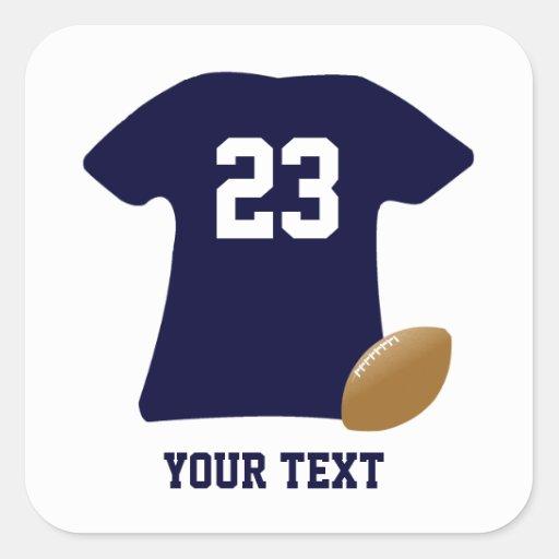 Din fotbollskjorta med fyrkantigt klistermärke