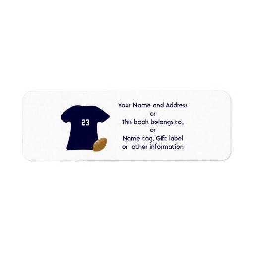 Din fotbollskjortareturetiketter returadress etikett
