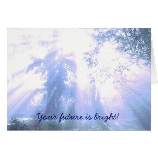 Din framtid är ljus - studenten hälsningskort