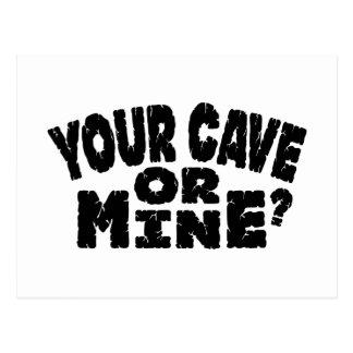 Din grotta eller bryter vykort