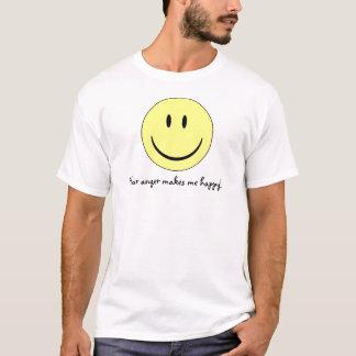 din ilska gör mig lycklig, lycklig ansikteskjorta t shirt