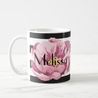 Din kända rosa vallmo kaffemugg