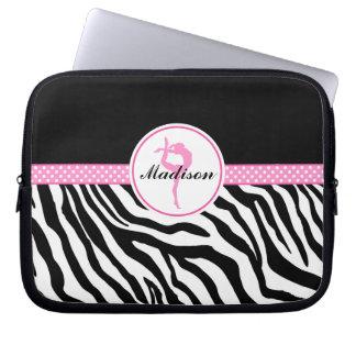 Din kända zebra tryckgymnastik med rosor laptop datorfodral