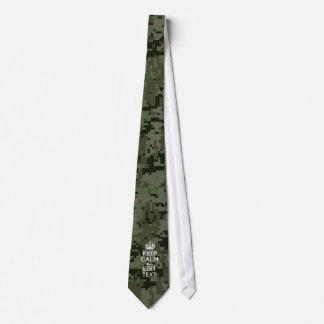 Din lugn för behålla för textDigital kamouflage Slips