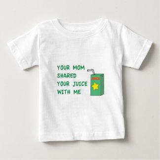 Din mamma delade din fruktsaft med mig tee