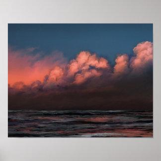 Din mamma rosa himmel - solnedgångaffischtryck 11x