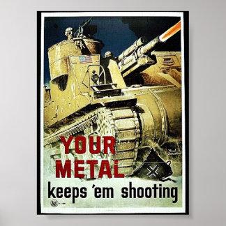 Din metall håller dem skyttet poster