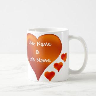 Din namn personifierade kärlekmugg kaffemugg